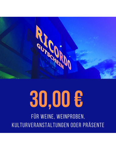 Gutschein 30,00 €